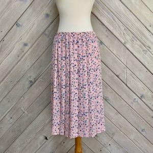 Vintage Leslie Fay Pleated Floral Skirt